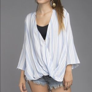 Tops - Loose Fit Stripped Blouse